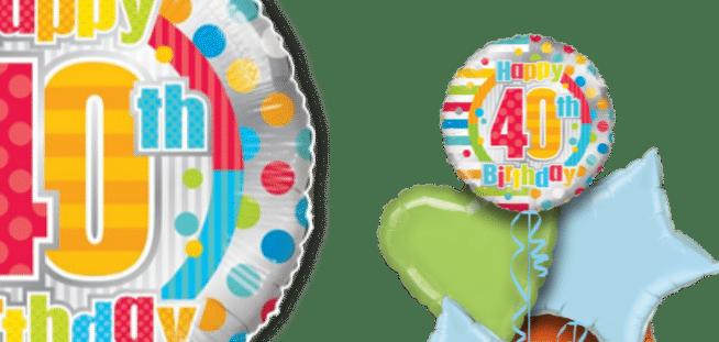 Colourful 40th Birthday Balloon