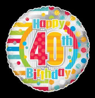 Colourful 40th Birthday