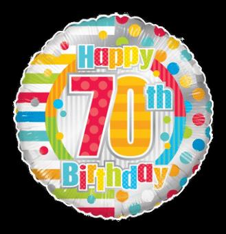 Colourful 70th Birthday