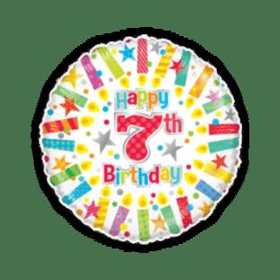 Colourful 7th Birthday Balloon