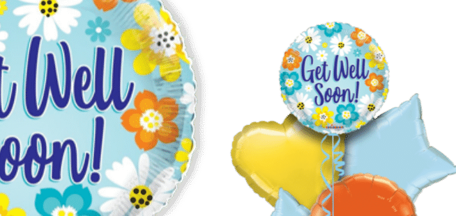 Get Well Summer Flowers Balloon