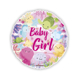 Under The Sea Baby Girl Balloon