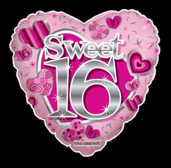 Sweet 16th Hearts