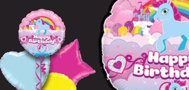 Unicorn Birthday Rainbow Balloon