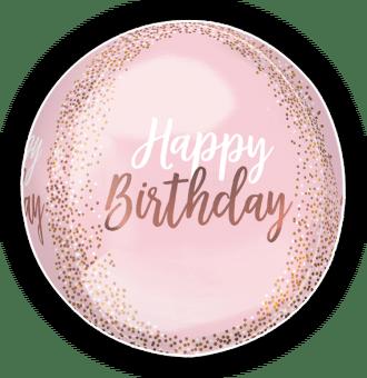 Blush Birthday Orbz Balloon