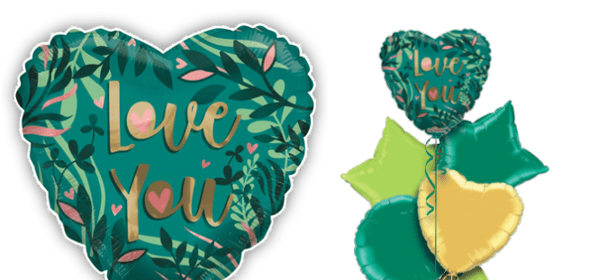 Love Green Balloon