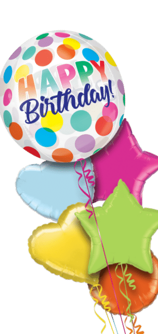 Happy Birthday Big Dots Orbz Balloon