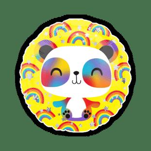 Rainbow Panda Balloon