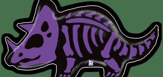 Triceratops Bones Balloon