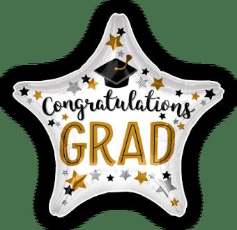 Congratulations Grad Star Balloon