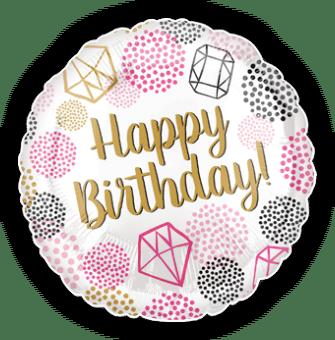 Birthday Dots and Diamonds