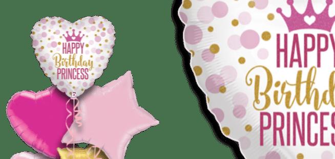 Happy Birthday Princess Dots Balloon