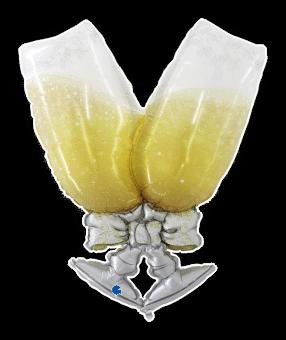 Champagne Glasses Balloon