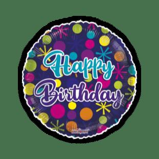 Bright Birthday Dots Balloon
