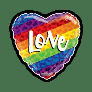 Rainbow Love Heart Balloon