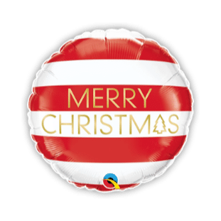 Merry Christmas Stripes Balloon