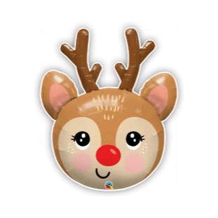 Red Nose Reindeer Balloon