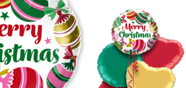 Merry Christmas Baubles Balloon