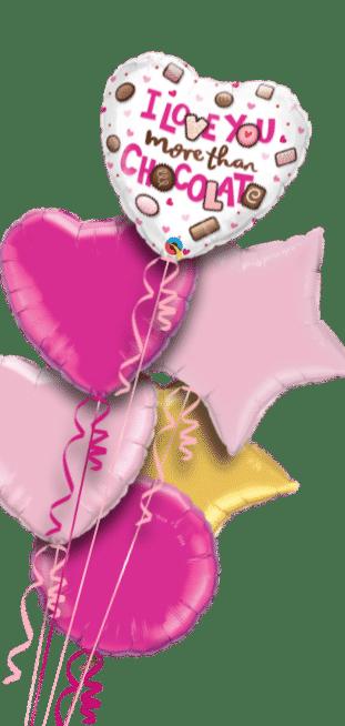 I Love You More Than Chocolate Balloon
