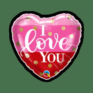 I Love You Gold Dots Balloon