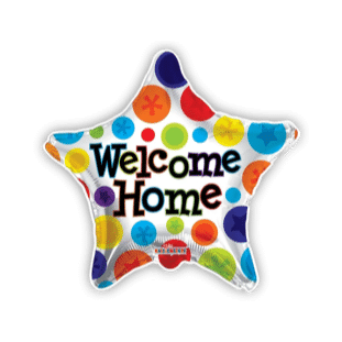 Welcome Home Star Balloon