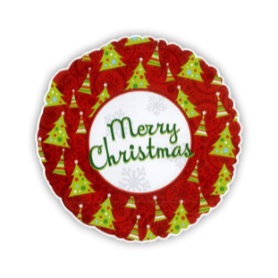 Merry Christmas Trees Balloon
