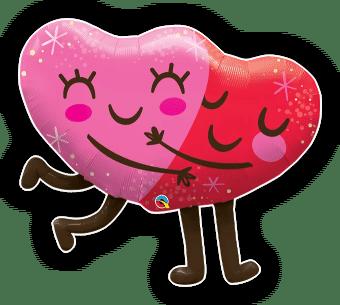 Hugging Smiley Hearts