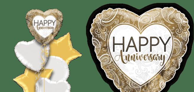 Golden Anniversary Heart Balloon