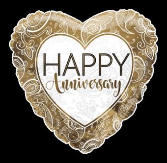 Golden Anniversary Heart