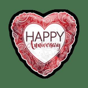 Anniversary Ruby Heart Balloon