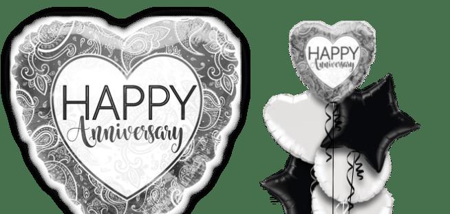 Anniversary Silver Heart Balloon