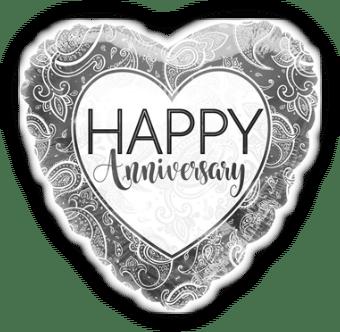 Anniversary Silver Heart