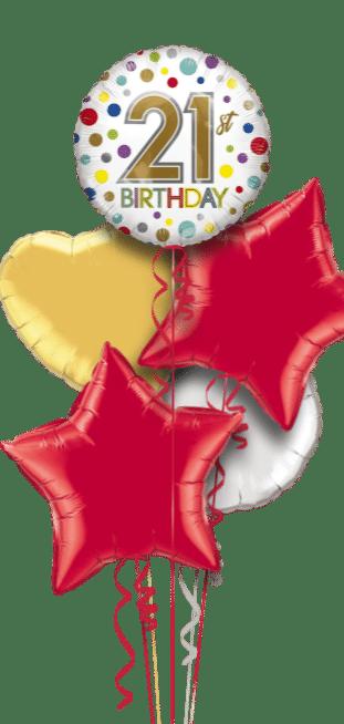 21st Birthday Spots Balloon
