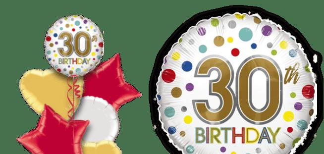 30th Birthday Spots Balloon