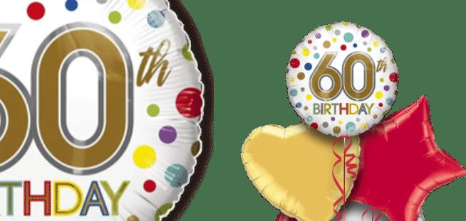 60th Birthday Spots Balloon