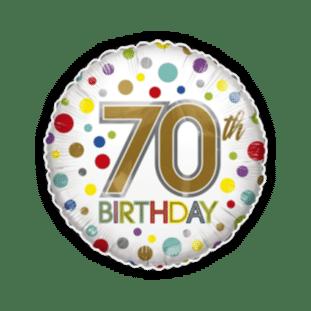 70th Birthday Spots Balloon