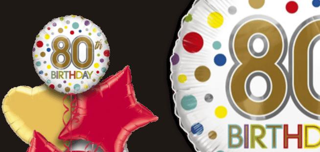 80th Birthday Spots Balloon