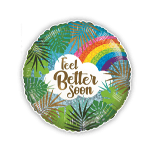 Feel Better Soon Rainbow Leaves Balloon