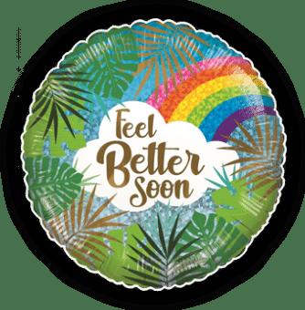 Feel Better Soon Rainbow Leaves