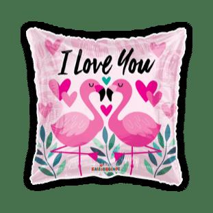I Love You Flamingos Balloon