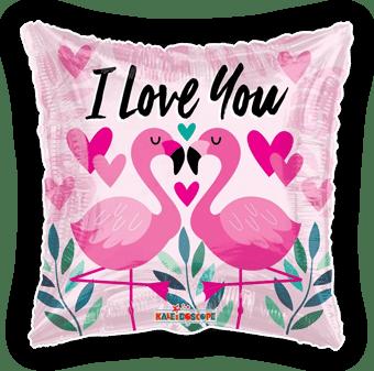 I Love You Flamingos