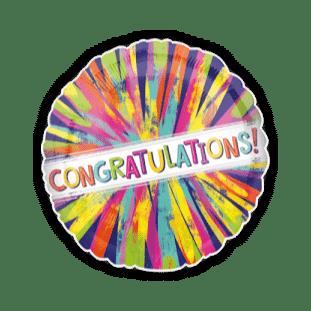 Congratulations Colour Burst Balloon
