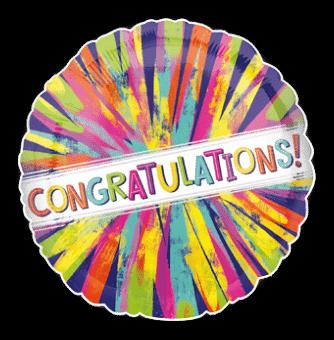 Congratulations Colour Burst