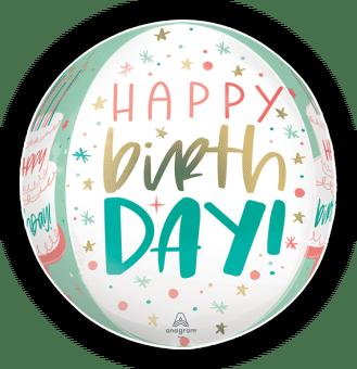 Happy Birthday Pastel Orbz