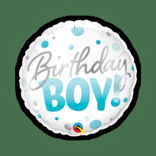 Birthday Boy Blue Spots Balloon