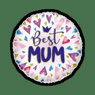 Best Mum Hearts Balloon