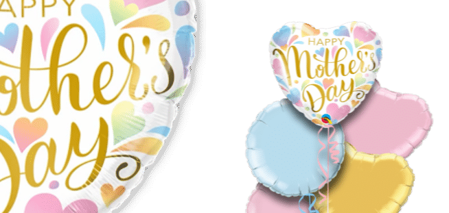 Mothers Day Pastel Hearts Balloon
