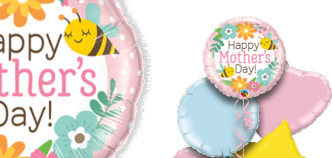Mothers Day Bee and Flowers Balloon
