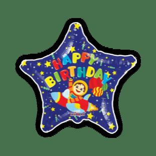 Birthday Space Rocket Balloon
