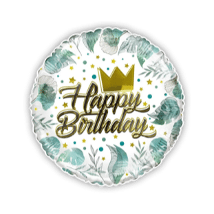 Birthday Gold Crown Balloon
